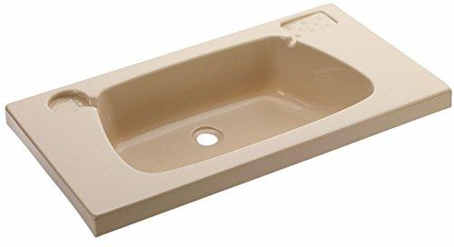 Waschbecken beige 620 x 340 mm
