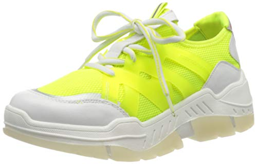 s.Oliver Damen 5-5-23666-24 Sneaker, Gelb (NEON Yellow 699), 38