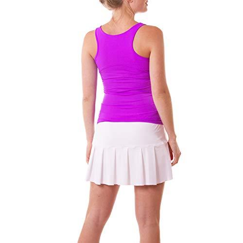 Sportkind Débardeur tennis/fitness/course à pied respirant, Pour enfant et femme, Protection anti-UV Facteur de protection ultraviolet (UPF) 50+ - Violet - 10 ans