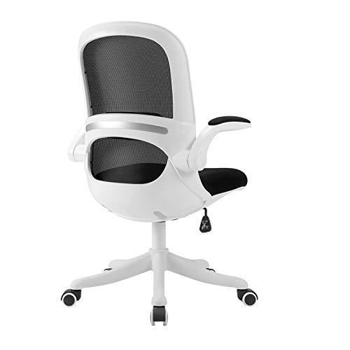 Silla oficina ejecutiva Silla de oficina multiusos, silla de escritorio ergonómica, silla de malla de oficina con soporte lumbar y brazos de flip-up, silla giratoria de oficina alberga Silla ergonómic