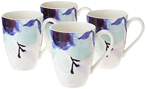 Lenox Indigo Watercolor Floral 4-Piece Mug Set, 3.35 LB, Blue