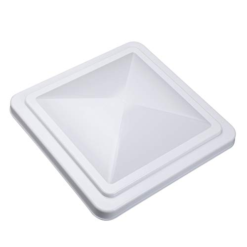 VETOMILE RV Roof Vent Lid Cover Universal Replacement 14 Inch White for Camper Trailer (1 Pack)