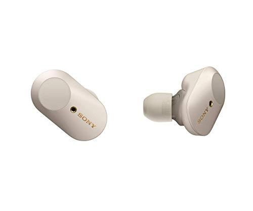 Sony WF-1000XM3 komplett kabellose Noise Cancelling Kopfhörer (bis zu 32h Akkulaufzeit, stabile Bluetooth Verbindung, Amazon Alexa, True Wireless, Headset mit Mikrofon) silber