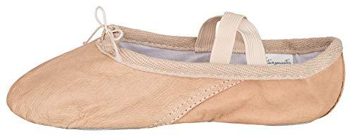 tanzmuster Ballettschuhe/Ballettschläppchen Toni aus Leder, Geteilte Ledersohle, Sandfarben, Größe:27