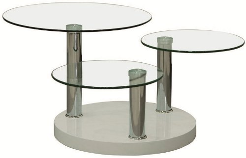 Table basse Swithome Tryplay en verre trempé