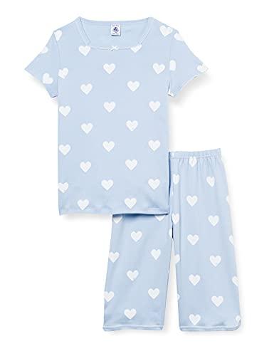 Petit Bateau A00Z401 Pajama Set, Jasmin/Marshmallow, 8 Ans Girls
