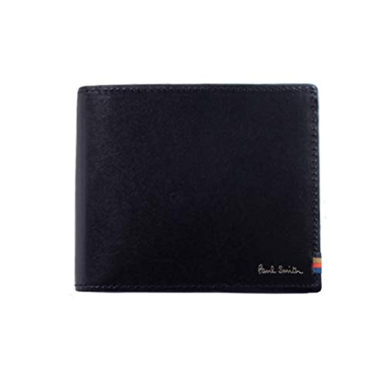 韓国小さいすでに[ポール?スミス] 財布 二つ折財布 折り財布 メンズ ストライプステッチタブ 873413 PSC834