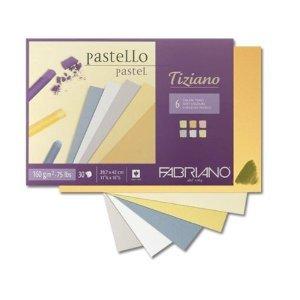 Hochwertiges Pastellpapier farbig Fabriano Tiziano Din A4 30 Blatt 160gr.
