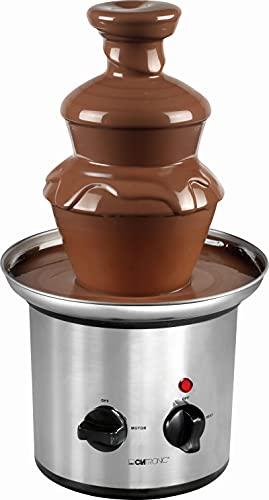 Schokobrunnen Groß für Partys Edelstahl - Schokoladenbrunnen für Zuhause Elektrisch Schokolade 500 g - Glatte Kaskaden für Früchte und Gebäck - Schokofondue Brunnen Tiefe Auffangschale