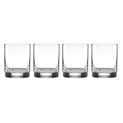 Lenox Tuscany Classics Cylinder Double Old Fashioned Glass, Clear 13 oz Set of 4 - 852913