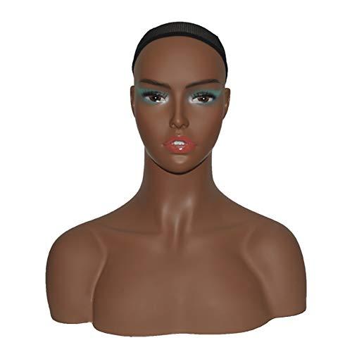 FDSEP Trainingsköpfe, Übungskopf menschlichen Haaren, 100% Echthaar, Puppenkopf für Friseure und Kosmetiker