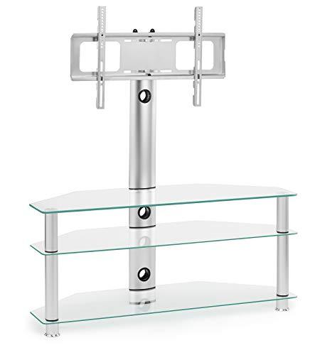 Soporte de TV de Cristal Transparente con Soporte Giratorio para 32 40 42 49 50 55 60 65 Pulgadas 4K Flat Screen TV