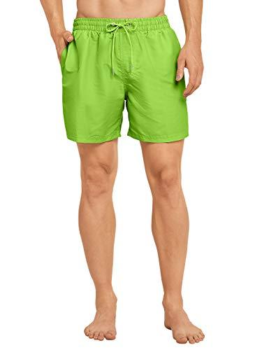 Schiesser Swimshorts Short, Vert (Lime 710), Medium (Taille Fabricant: 005) Homme