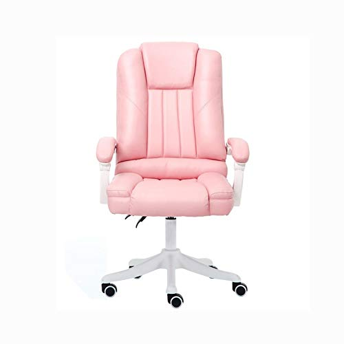 GFDFD Bürostuhl, Home-Office-Bürostuhl mit Armlehnen-Design, Computer-Drehstuhl mit hoher Rückenlehne (Color : Pink)