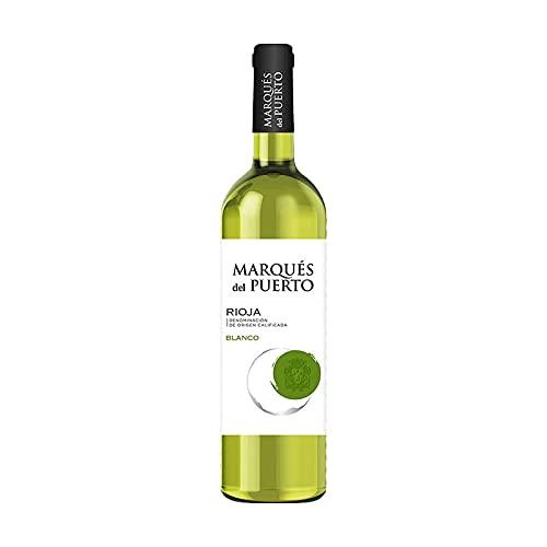 Vino Blanco Marques del Puerto de 75 cl - D.O. Rioja - Bardinet (Pack de 1 botella)