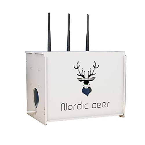 Caja de Almacenamiento de módem de enrutador WiFi Caja organizadora de Montaje en Pared para mejoras en el hogar Estante Decorativo de Sala de Estar Estante Flotante de Oficina