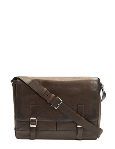 FRYE Men's Oliver Messenger Bag, Dark Brown, One Size
