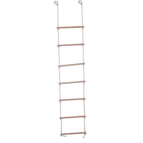 Woudi® I Kinder Strickleiter mit Holzsprossen ideal für Klettern Rahmen, Baumhaus, den & Play House.