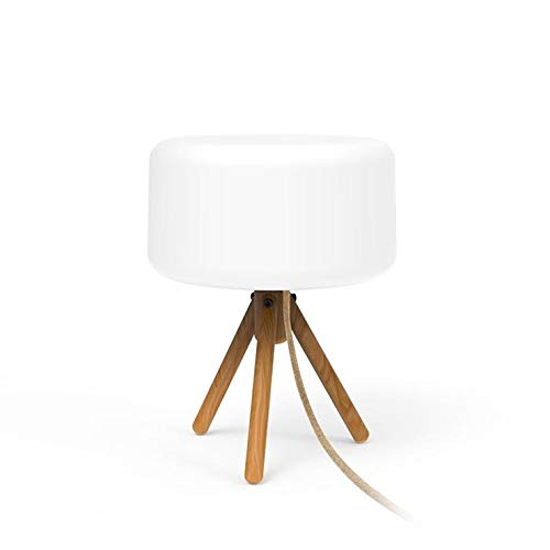 Chloe - Lámpara de mesa solar LED con mando a distancia, 36 cm, color blanco