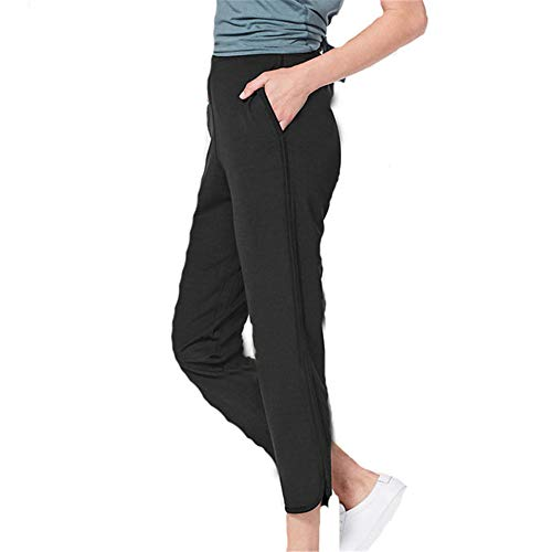 BEIXUNDIANZI Damen Yoga Leggings mit Tasche Klassische Bauchkontrolle Mittlere Taille Laufhose Workout Living Outdoors Sporthose