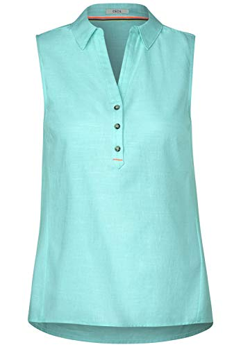 Cecil Damen Chambray-Blusentop Light Molecule Mint Green XXL