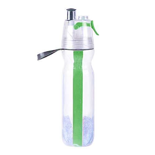 LZYANG La Botella Deportiva Termo De Doble Capa A Prueba De Fugas No Contiene Botella Exprimible BPA Botella Deportiva Portátil Antivaho Adecuada para Viajes (Verde)