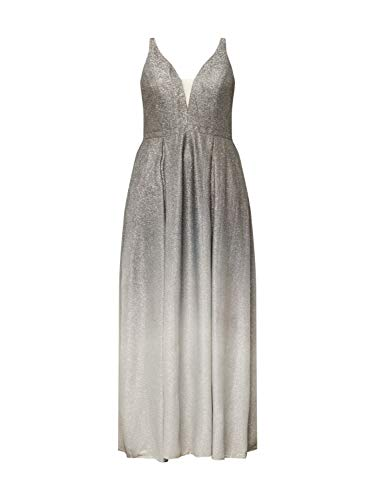 My Mascara Curves Damen Abendkleid Ombre Flow grau 52