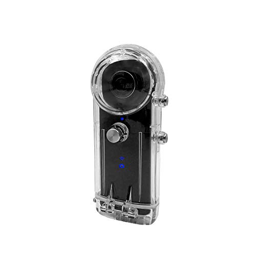 Waterproof Housing Case for Ricoh Theta Spherical Cameras (V, S & SC) with Underwater Diving 30M Protective Shell Accessories