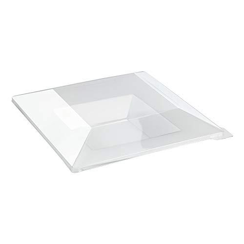 First 210AQ2121 Assiette Carréee Creuse, Plastique, Transparent, 21,5 x 21,5 x 7 cm
