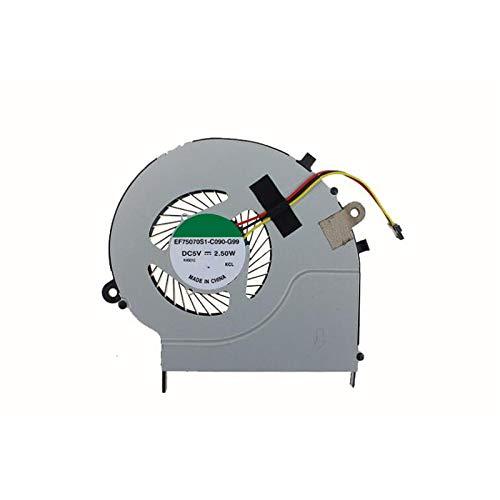 Ventilador de refrigeración de CPU para Ordenador portátil para Toshiba Satellite L50-B L55-B EF75070S1-C090-G99 DC5V 2,5 W Nuevo