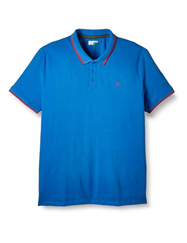 ESPRIT Herren 020EE2K305 Polohemd, 431/BLUE 2, XXL