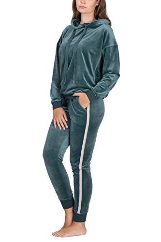 SLOUCHER Nicki Hausanzug für Damen, Farbe:grün, Größe:L
