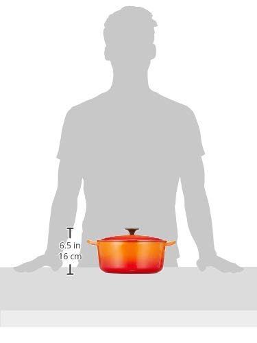 【Amazon.co.jp 限定】Le Creuset (ルクルーゼ) 両手鍋 22cm オレンジ フライパン 食器セット 7個入