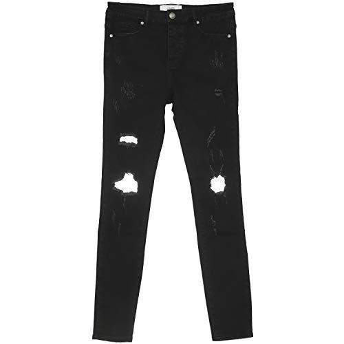 Sixth June Jeans mit Streifen, reflektierend, Schwarz Gr. 36 DE/XL, Schwarz