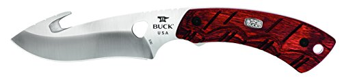 Buck Knives 0536RWG Open Season Skinner Guthook Fixed Blade Knife with Sheath, Rosewood