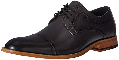 STACY ADAMS Men's Dickinson Cap Toe Oxford, Black, 8 M US
