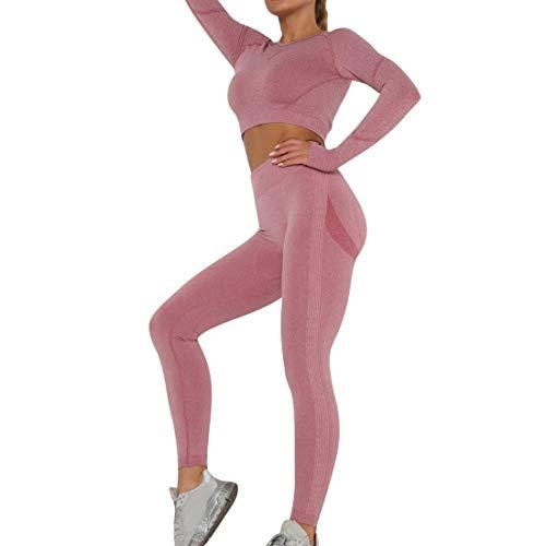 OEAK Conjunto de ropa deportiva para mujer, chándal, pantalones y top de...