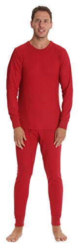 At The Buzzer Thermal Underwear Set for Men 95962-Red-XL