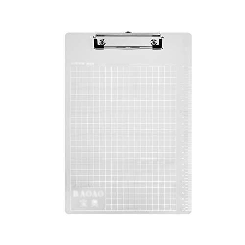 Portapapeles de tamaño de 5 pack A4 y letra con la carpeta de la regla de medición de la carpeta colgante de la oficina de la oficina del colgante (negro / plateado / marrón) ( Color : Silver )