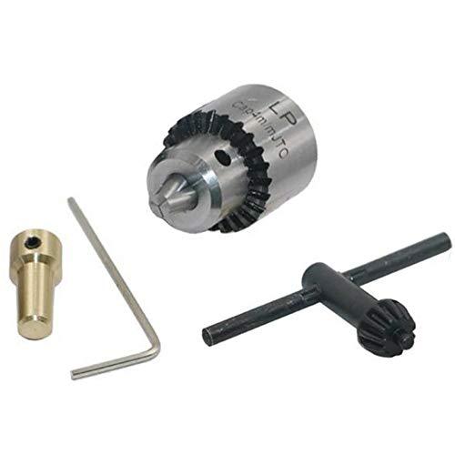 LILICEN LYJ Micro Motor Taladro Chucks sujeción 0.3-4mm JT0 Tape de Taladro montado en Caper con Llave de Mandril 3.17mm Brass Mini Motor eléctrico Eje
