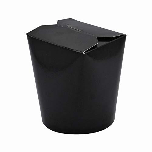 Bio Asia-Box mit Faltdeckel, Einweg Döner-Box für Fingerfood Black 500 ml 480 Stück