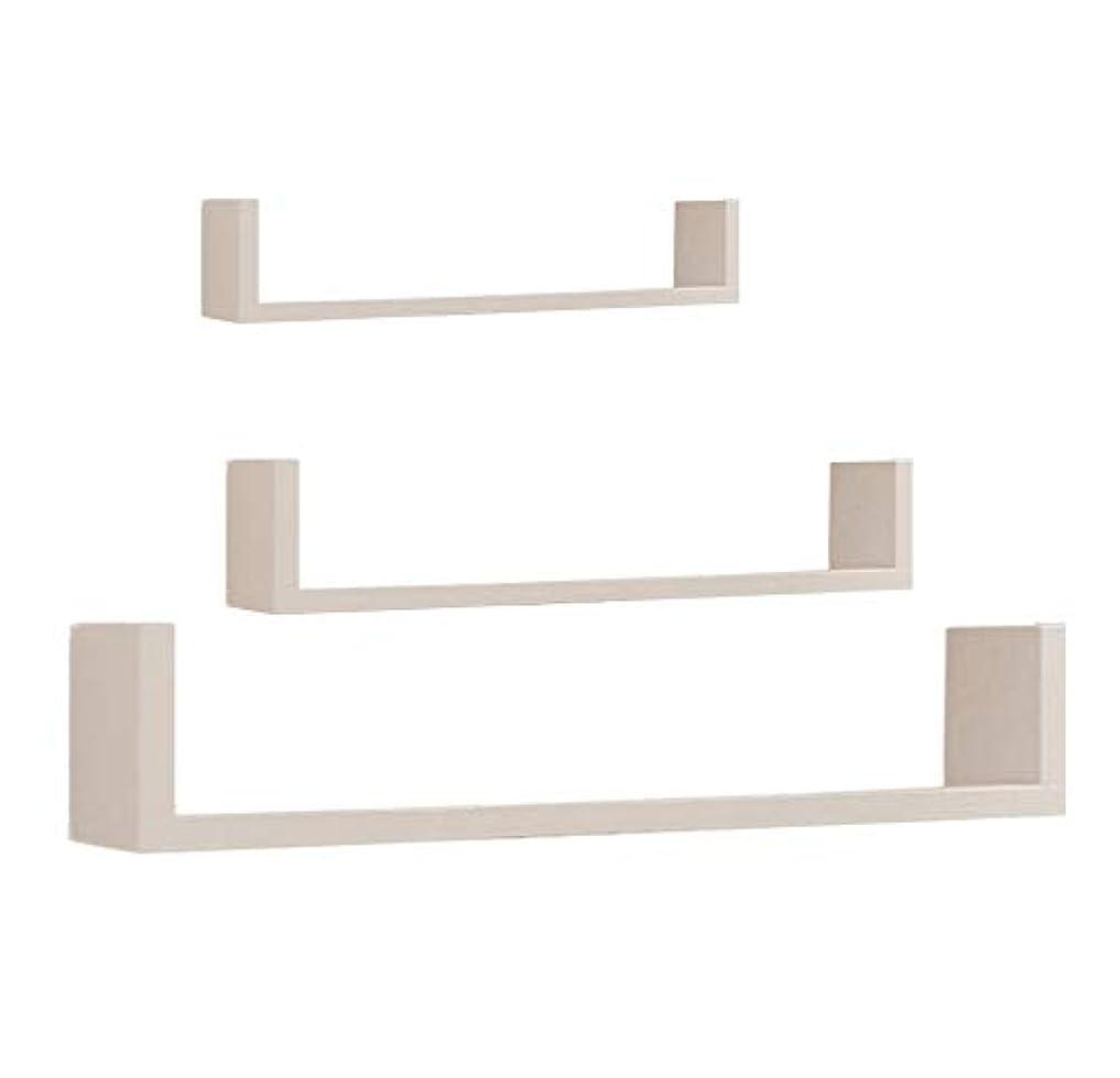 完全に大いに申し立て書棚 茶色の白い本棚のラック木製の便利なアセンブリ無料の穴の開いた壁のラックのパーティションリビングルームの寝室の壁の3つのセット本棚の棚の装飾的な壁の木製の棚 (Color : 白, Size : 40*15*20cm)