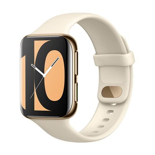 OPPO Watch 46mm Smart Watch (display AMOLED, GPS, NFC, Bluetooth 4.2, WiFi, Wear OS by Google Watch, funzione di ricarica rapida VOOC) - Oro lucido