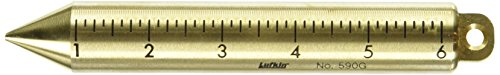 Crescent Lufkin 20 oz. Inage Solid Brass Cylindrical SAE/Metric Plumb Bob - 590GMEN