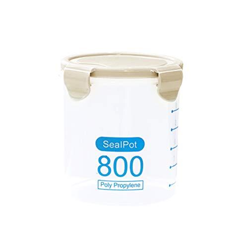 Yardwe Transparent boîte alimentaire hermétique conteneur alimentaire boîtes scellées pour noix thé fruits vert 800ml