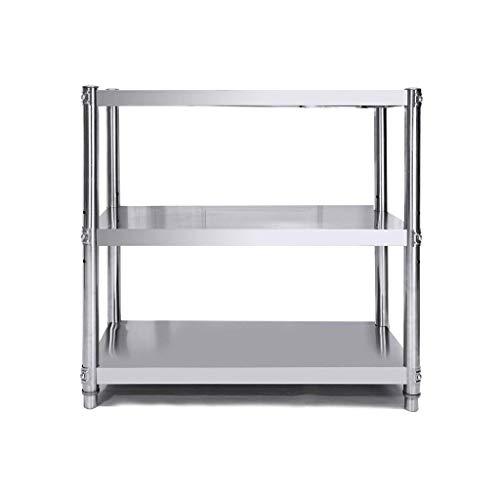 Keukenhouders met 3 niveaus van roestvrij staal, magnetronhouder, houder voor zware lasten, hoge belastbaarheid, eenvoudige montage van het rek (kleur: L 70 cm, grootte: W50 cm)