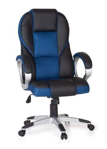 Amstyle Race Bürostuhl, Stoff, Blau, 63x111x57 cm
