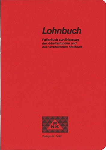 RNK 2442 Polierbuch - Taschenlohnbuch, 96 Seiten, Maße (BxH): 120 x 170 mm
