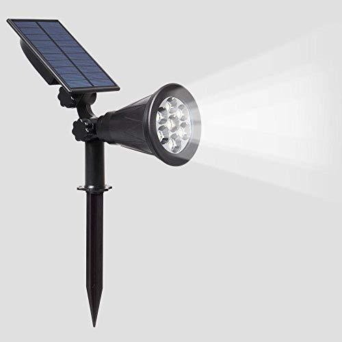 SILOLA Projecteurs solaires, 4LED Solar Garden Light, Solar Lawn Light, Solar Spot Light LED light-4LED Spotlight Outdoor Garden, Patio, Balcony, Wedding, DIY