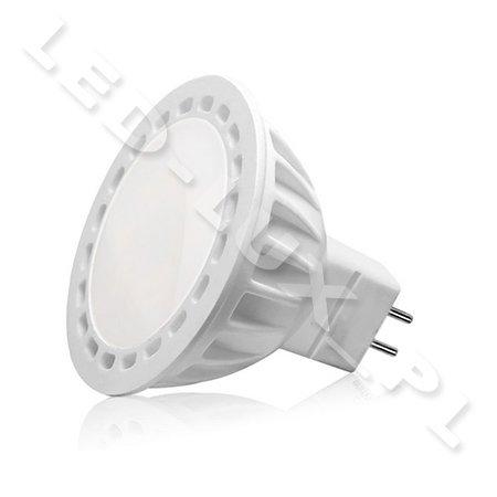5x MR16 LED, MR16 12V, GU5.3 4,5W LED 12 SMD 2835 LED Lampe, MR16 LEDs mit milchig schutzglas 420LM 12V AC Kaltweiss, 40W (5x Kaltweiss)